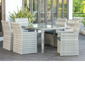 wicker Dinning Chairs And Table